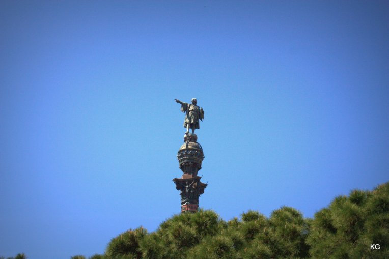 Barcelona-Statue of Columbus near the Port