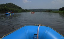 View from our raft