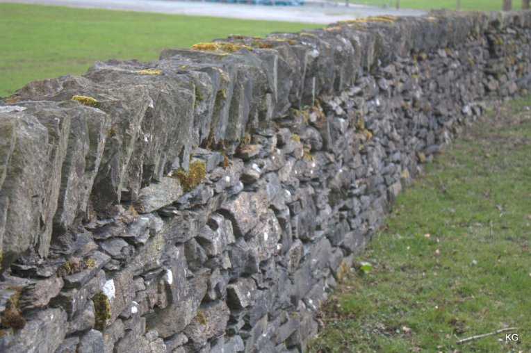 This is the common form of fence in Scotland (using stones)