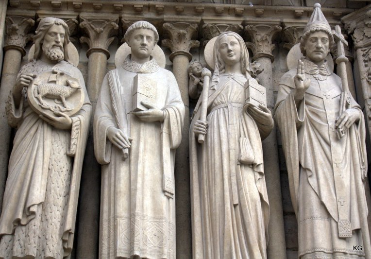 At Notre Dame Cathedral's door
