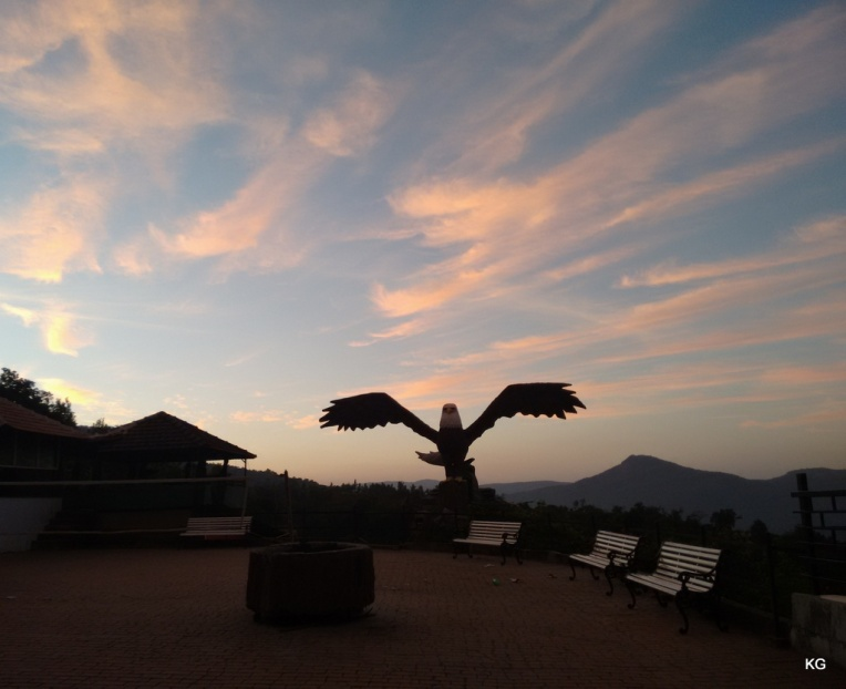 Eagle statue at the resort